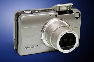 Kyocera's FineCam S5 digital camera. Courtesy of Kyocera Germany, with modifications by Michael R. Tomkins.