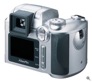 Fuji's FinePix 3800 Zoom digital camera. Courtesy of Fuji Photo Film USA Inc., with modifications by Michael R. Tomkins.
