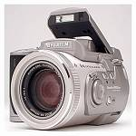 Fuji's FinePix 4900Z digital camera, front left quarter view. Copyright (c) 2000, The Imaging Resource, all rights reserved.