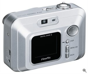 Fuji's FinePix A200 digital camera. Courtesy of Fuji Photo Film USA Inc., with modifications by Michael R. Tomkins.