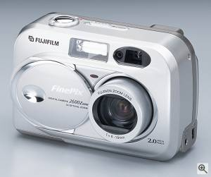 Fuji's FinePix 2600 Zoom digital camera. Courtesy of FujiFilm. Click for a bigger picture!