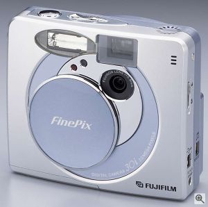 Fuji's FinePix 30i digital camera. Courtesy of Fuji Germany with modifications by Michael R. Tomkins. Click for a bigger picture!