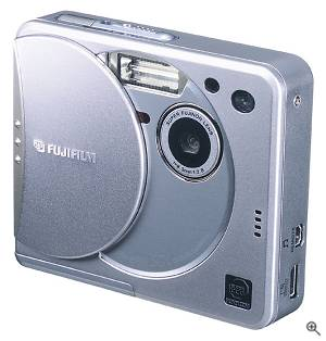 Fuji's FinePix 50i digital camera, front view.  Courtesy of Fuji Japan. Click for a bigger picture!
