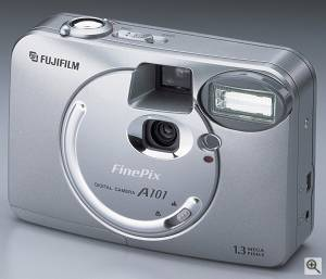 Fuji's FinePix A101 digital camera. Courtesy of FujiFilm. Click for a bigger picture!