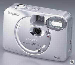 Fuji's FinePix A201 digital camera. Courtesy of FujiFilm. Click for a bigger picture!