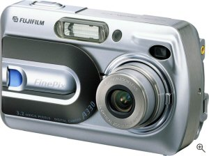 Fujifilm's FinePix A330 digital camera. Courtesy of Fujifilm, with modifications by Michael R. Tomkins. Click for a bigger picture!