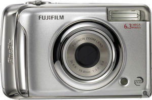 Fujifilm's FinePix A610 digital camera. Courtesy of Fujifilm, with modifications by Michael R. Tomkins. Click for a bigger picture!