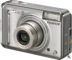 Fujifilm's FinePix A700 digital camera. Courtesy of Fujifilm, with modifications by Michael R. Tomkins. Click for a bigger picture!