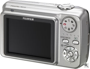 Fujifilm's FinePix A820 digital camera. Courtesy of Fujifilm, with modifications by Michael R. Tomkins. Click for a bigger picture!