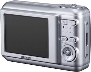 Fujifilm's FinePix A850 digital camera. Courtesy of Fujifilm, with modifications by Michael R. Tomkins. Click for a bigger picture!