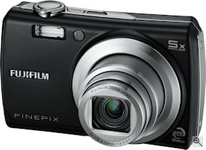 Fujifilm's FinePix F100fd digital camera. Courtesy of Fujifilm, with modifications by Michael R. Tomkins. Click for a bigger picture!