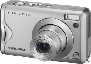 Fujifilm's FinePix F20 digital camera. Courtesy of Fujifilm, with modifications by Michael R. Tomkins. Click for a bigger picture!