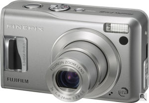 Fujifilm's FinePix F31fd digital camera. Courtesy of Fujifilm, with modifications by Michael R. Tomkins. Click for a bigger picture!