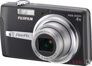 Fujifilm's FinePix F480 digital camera. Courtesy of Fujifilm, with modifications by Michael R. Tomkins. Click for a bigger picture!