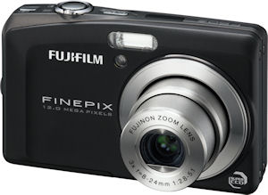 Fujifilm's FinePix F60FD digital camera. Courtesy of Fujifilm, with modifications by Michael R. Tomkins. Click for a bigger picture!