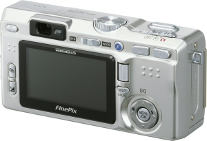Fujifilm's FinePix F810 digital camera. Courtesy of Fujifilm, with modifications by Michael R. Tomkins. Click for a bigger picture!