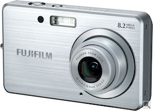Fujifilm's FinePix J10 digital camera. Courtesy of Fujifilm, with modifications by Michael R. Tomkins. Click for a bigger picture!