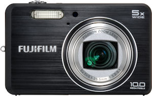 Fujifilm's FinePix J150w digital camera. Courtesy of Fujifilm, with modifications by Michael R. Tomkins. Click for a bigger picture!