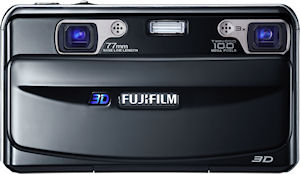 Fujifilm's FinePix REAL 3D W1 digital camera. Photo provided by Fujifilm Europe. Click for a bigger picture!
