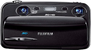 Fujifilm's FinePix REAL 3D W3 digital camera. Photo provided by Fujifilm North America Corp. Click for a bigger picture!