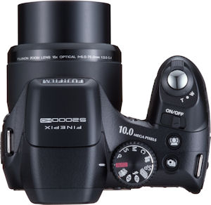 Fujifilm's FinePix S2000HD digital camera. Courtesy of Fujifilm, with modifications by Michael R. Tomkins. Click for a bigger picture!