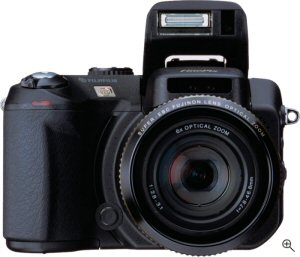 Fujifilm's FinePix S20 Pro digital camera. Courtesy of Fujifilm, with modifications by Michael R. Tomkins. Click for a bigger picture!