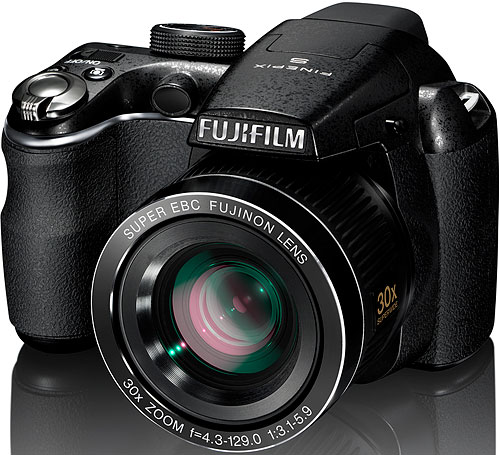 Fujifilm's FinePix S4000 digital camera. Photo provided by Fujifilm North America Corp. Click for a bigger picture!