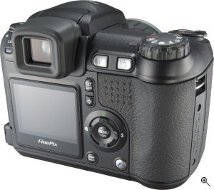Fujifilm's FinePix S5200 digital camera. Courtesy of Fujifilm, with modifications by Michael R. Tomkins. Click for a bigger picture!