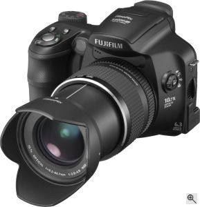 Fujifilm's FinePix S6000fd digital camera. Courtesy of Fujifilm, with modifications by Michael R. Tomkins. Click for a bigger picture!