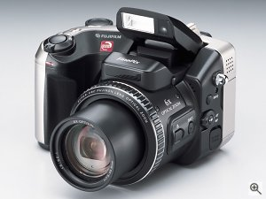 FujiFilm FinePix S602 Zoom digital camera. Courtesy of FujiFilm, with modifications by Michael R. Tomkins. Click for a bigger picture!