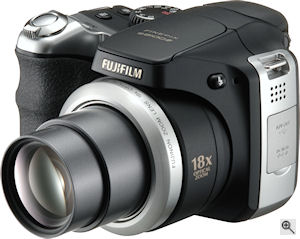 Fujifilm's FinePix S8100FD digital camera. Courtesy of Fujifilm, with modifications by Michael R. Tomkins. Click for a bigger picture!