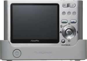 Fujifilm's FinePix Z1 digital camera. Courtesy of Fujifilm, with modifications by Michael R. Tomkins. Click for a bigger picture!