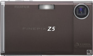 Fujifilm's FinePix Z5fd digital camera. Courtesy of Fujifilm, with modifications by Michael R. Tomkins. Click for a bigger picture!