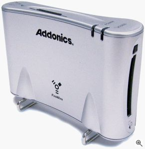 Addonics' FireWire DigiDrive. Click for a bigger picture!