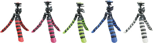 Rollei's Flexipod 100 tripod is available in a variety of colors. Photo provided by Rollei. Click for a bigger picture!