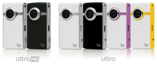 The complete 2nd generation of America's most popular camcorder, the Flip Ultra, from Pure Digital Technologies. Photo and caption provided by Pure Digital Technologies Inc. Click for a bigger picture!