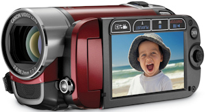 Canon's FS200 flash memory camcorder. Photo provided by Canon U.S.A. Inc. Click for a bigger picture!