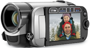 Canon's FS21 flash memory camcorder. Photo provided by Canon U.S.A. Inc. Click for a bigger picture!