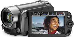 Canon's FS22 flash memory camcorder. Photo provided by Canon U.S.A. Inc. Click for a bigger picture!