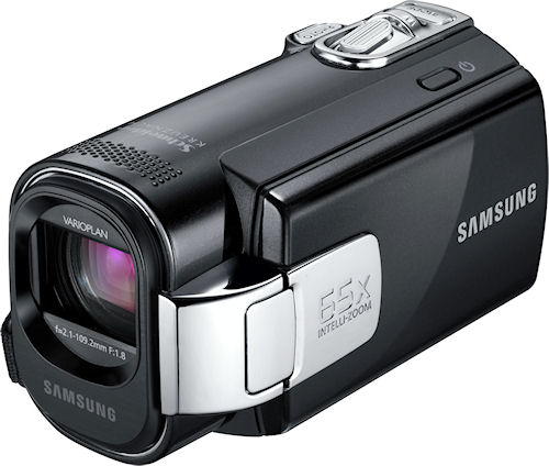 Samsung's F-Series digital camcorders. Photo provided by Samsung Electronics America Inc. Click for a bigger picture!