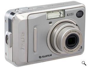 Fujifilm's FinePix A400 digital camera. Courtesy of Fujifilm, with modifications by Michael R. Tomkins. Click for a bigger picture!