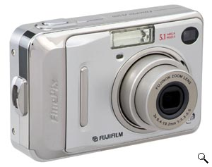 Fujifilm's FinePix A500 digital camera. Courtesy of Fujifilm, with modifications by Michael R. Tomkins. Click for a bigger picture!