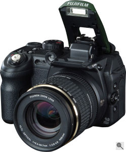 Fujifilm's IS-1 digital camera. Courtesy of Fujifilm, with modifications by Michael R. Tomkins. Click for a bigger picture!