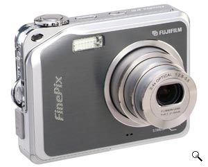 Fujifilm's FinePix V10 digital camera. Courtesy of Fujifilm, with modifications by Michael R. Tomkins. Click for a bigger picture!