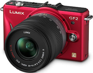 The Panasonic Lumix DMC-GF2 digital camera. Photo provided by Panasonic Consumer Electronics Co. Click for a bigger picture!