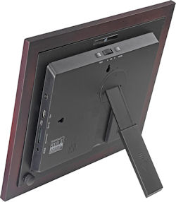 Rear view of GiiNii's GH-8DNM Artforme multimedia digital picture frame. Photo provided by GiiNii International. Click for a bigger picture!