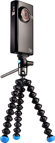 Gorillapod Video with Cisco Flip-series flash camcorder attached. Photo provided by Joby. Click for a bigger picture!