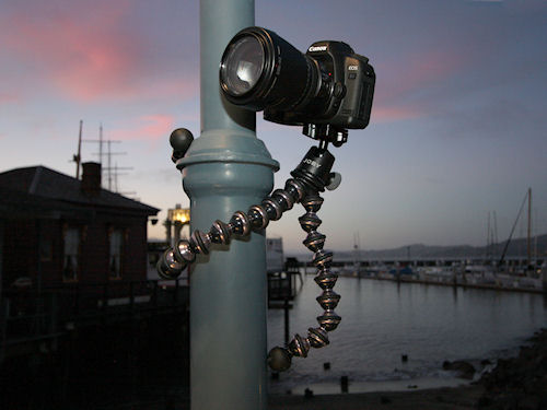 The Ballhead X for Gorillapod Focus in use. Photo provided by Joby Inc. Click for a bigger picture!