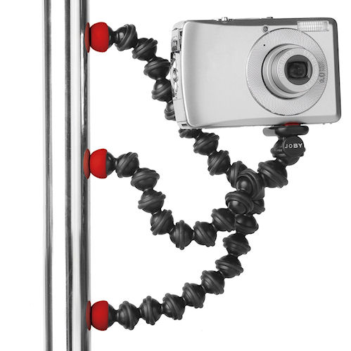The Gorillapod Magnetic in use. Photo provided by Joby Inc. Click for a bigger picture!