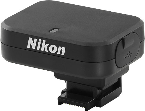Nikon's GP-N100 GPS unit. Photo provided by Nikon Corp. Click for a bigger picture!